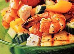 Grilled Shrimp Greek Salad (Epicurious.com)
