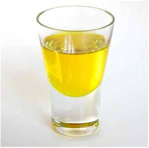 Orange oil in glass