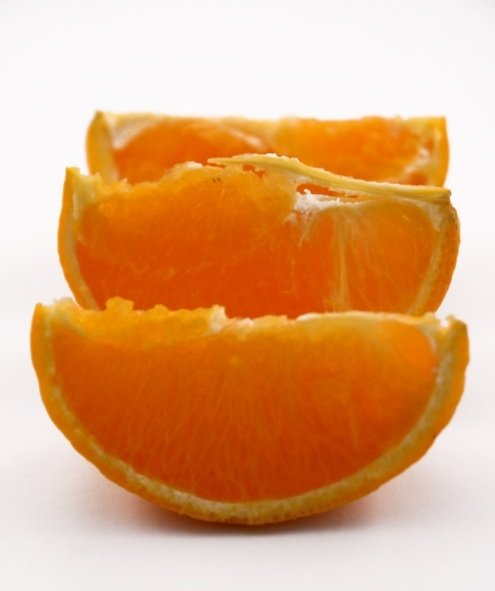 Juicy orange slices