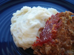 Basic Meatloaf Recipe with Creamy Mashed Potatoes