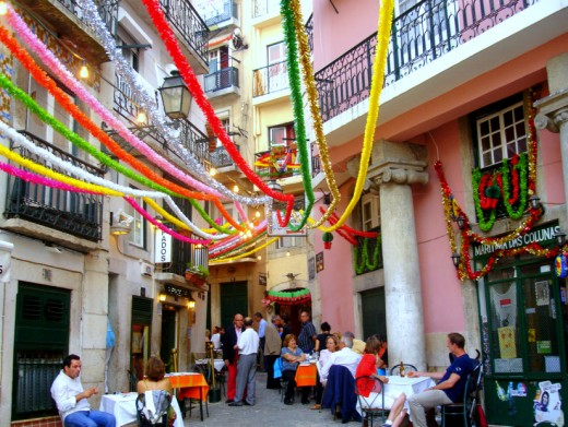 St. Anthonys street party in Lisbon