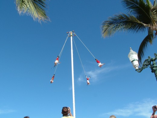 Papantla Flyers on PV Malecon