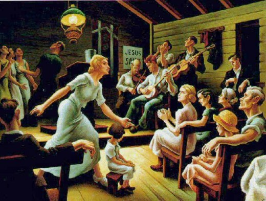 """LORD, HEAL THE CHILD"" BY THOMAS HART BENTON (1934)"
