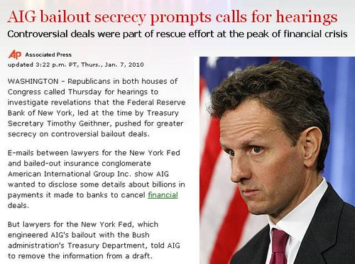 Timothy Geithner - US Treasury Secretary and former NY Fed Chairman Geithner is the current Frontman for the Fraud