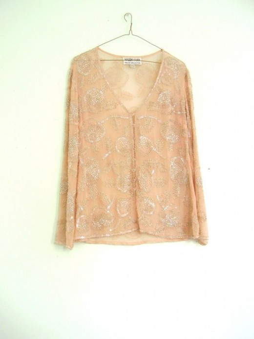 Sheer silk Jacket.