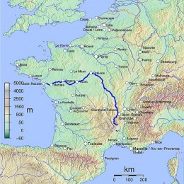 Map of the River Loire