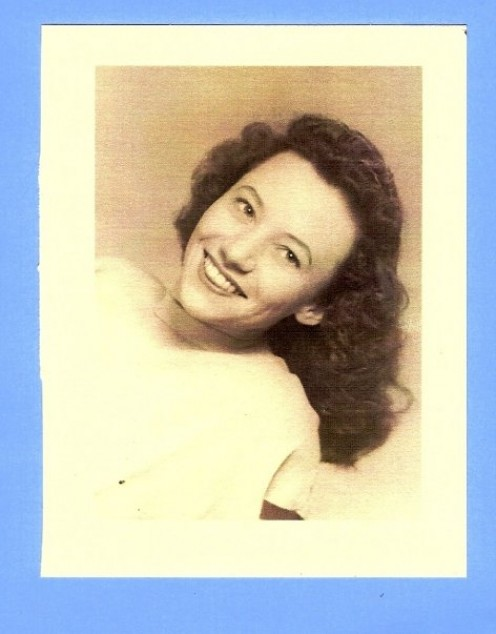 Mom's Glamour Photo: in college.