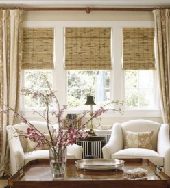 Roll-Up Bamboo Window Shades