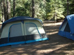 Camping out is a great way to make fond family memories!