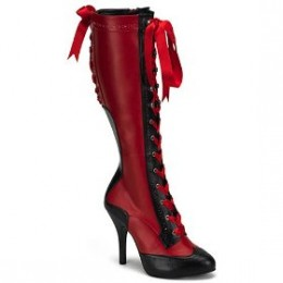 Sexy knee high lace up boots with heel