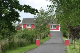 We walked past a red house we found very intriguing