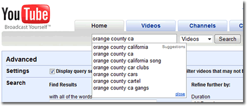 Youtube Video Keywords