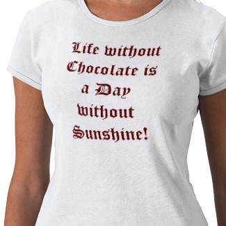Find this t-shirt and more chocolate gifts in my Chocoholics Unite! on Zazzle. http://www.zazzle.com/sandyspider*/cg-196403814532624726