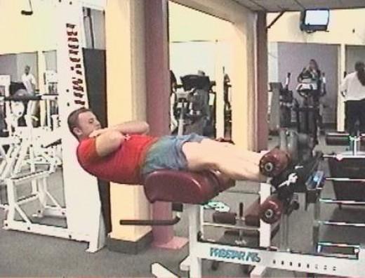 Roman chair exercise