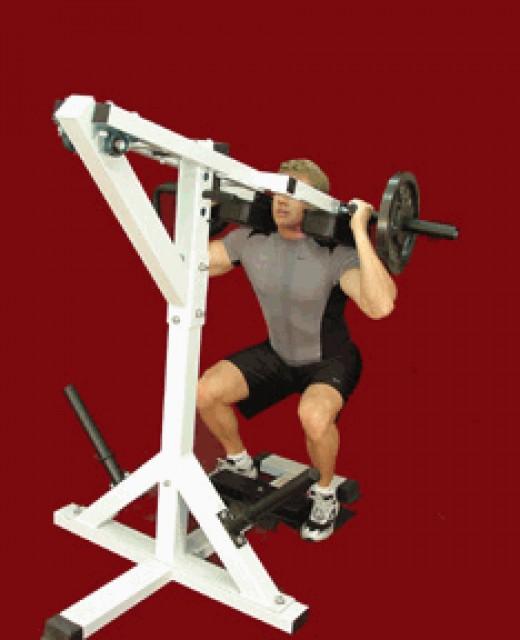 Calf and squat machine