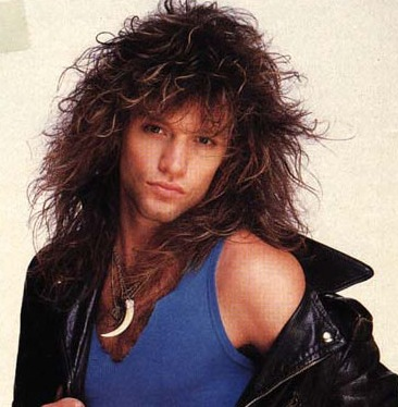 Bon Jovi long hairstyle