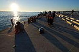 The Sea Organ as the sun in setting down.