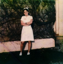 youthful me as a student nurse