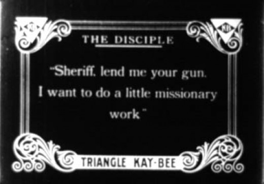 A title card from a silent film