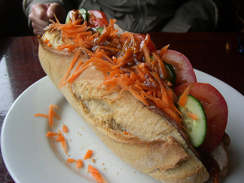 Sandwich in Baguette