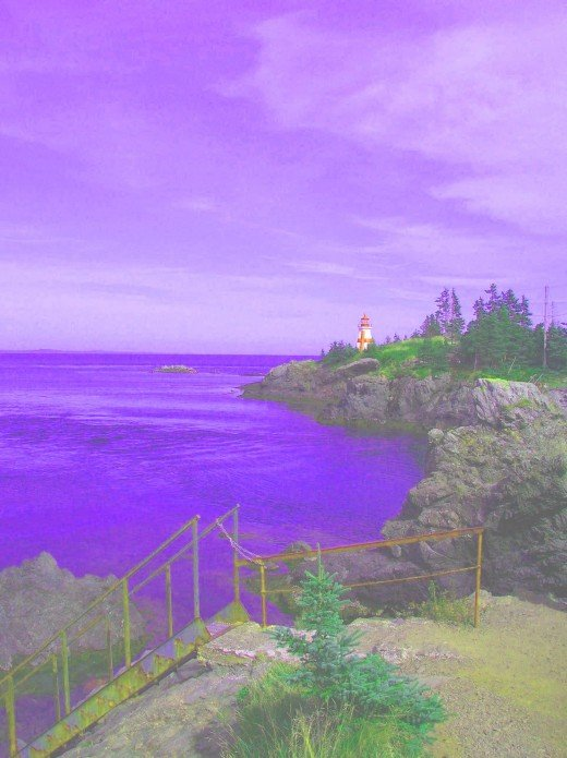 East Quoddy Lighthouse at Campobello Island in Canada. I added some cool effects to this one.