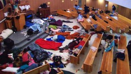 Churches sometimes serves as emergency shelters