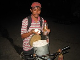 example of a street vendor of balot