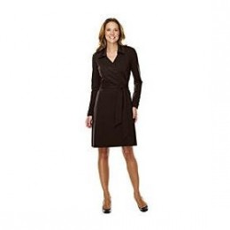Long sleeve wrap dresses for plus size women
