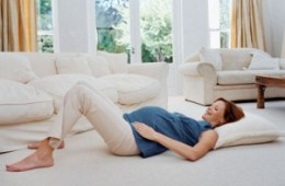 Laying down and sitting are easy positions to perform kegel exercises.