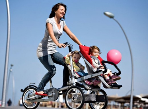 mom can go biking or with long strollers anywhere