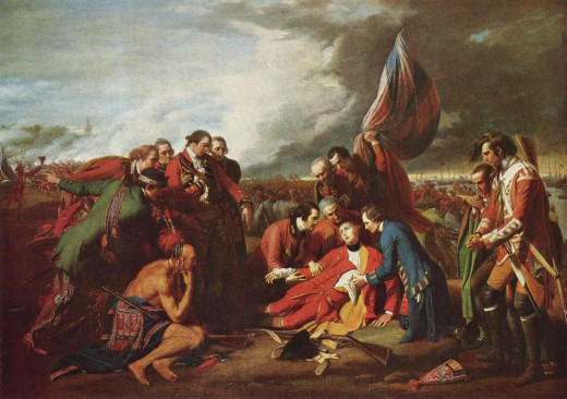 """THE DEATH OF GENERAL WOLFE"" BY BENJAMIN WEST (1770) THE NATIONAL GALLERY OF CANADA, OTTAWA"