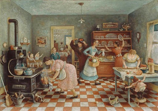 """THANKSGIVING"" BY DORIS LEE (1935) ART INSTITUTE OF CHICAGO"