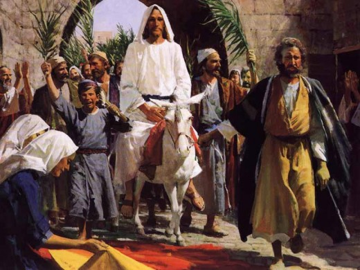 """JESUS ENTERS JERUSALEM"" BY HARRY ANDERSON"