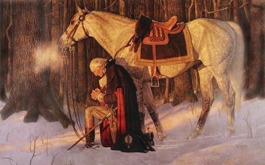 """THE PRAYER AT VALLEY FORGE"" BY ARNOLD FRIBERG (1975) MOUNT VERNON"