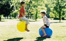 Playing outside is a great way for kids to stay active.