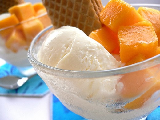 Mango with Ice Cream