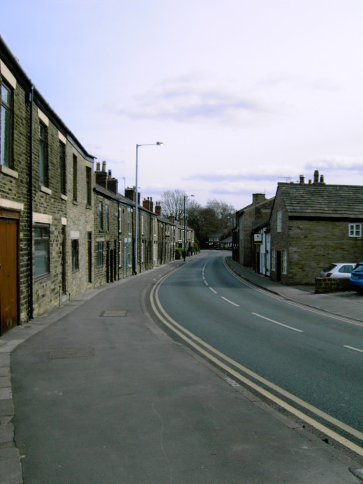 The modern day School Lane runs down from the church and takes one out of the village
