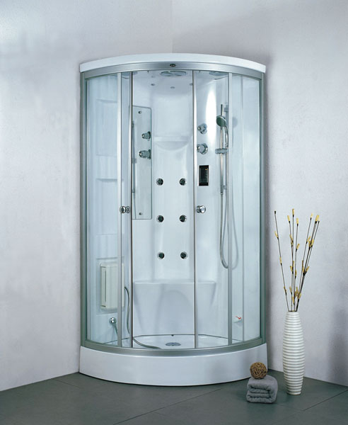 A home steam shower capsule.