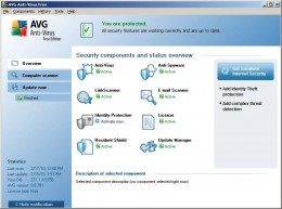 AVG Free Anti-Virus interface