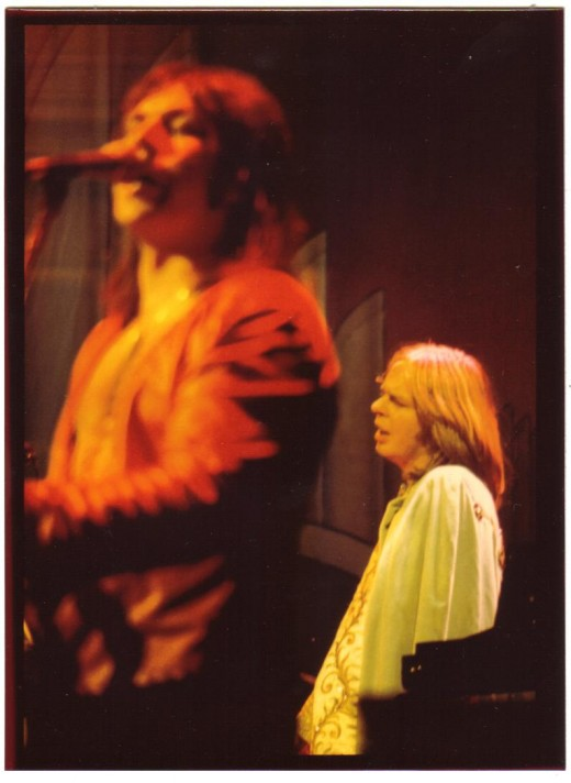 This is a shot of Rick Wakeman (right)of the band Yes. I took this I believe in the late 70's, but with my mind it could have been the early 80's. Whatever, hope you like it.