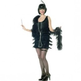 Thigh high black flapper costume