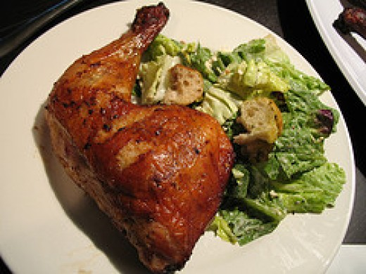 Grilled Chicken Leg and Thigh (Fabulousfoods.com)