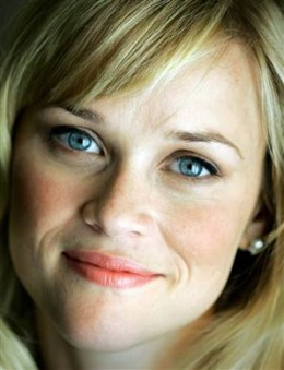 Reese Witherspoon, actress, with blue eyes