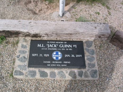 This is a memorial to an Engineer who lost his life in a derailment.