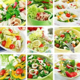 Eating salads with fruits and vegetables are a great way to improving your health and can also promote better brain function and cardiovascular health.