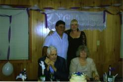 Me and my husband with my parents. Six months later my husband would be sentenced to 10 1/2 years in Federal Prison.