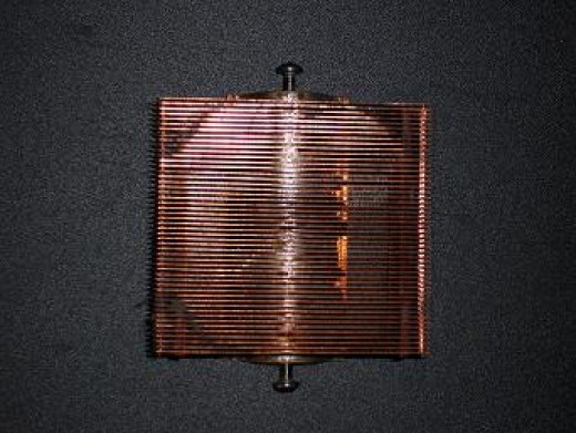 Copper Heat-sync Removed from a Pentium  II CPU