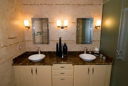 There are many types of bathroom lighting.