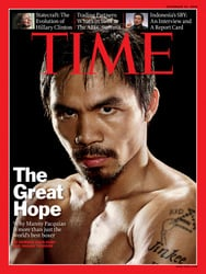 Manny Pacquiao on the cover of Time Magazine