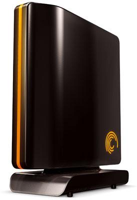 A typical external hard drive